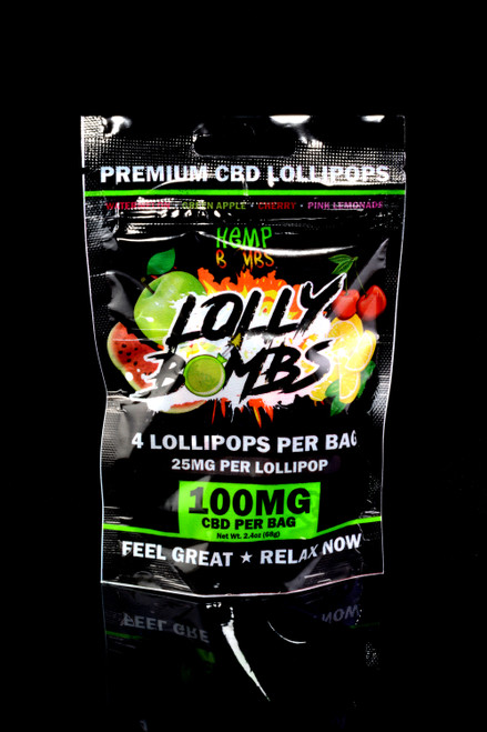 Lolly Bombs 4 Count CBD Lollipops - CBD260