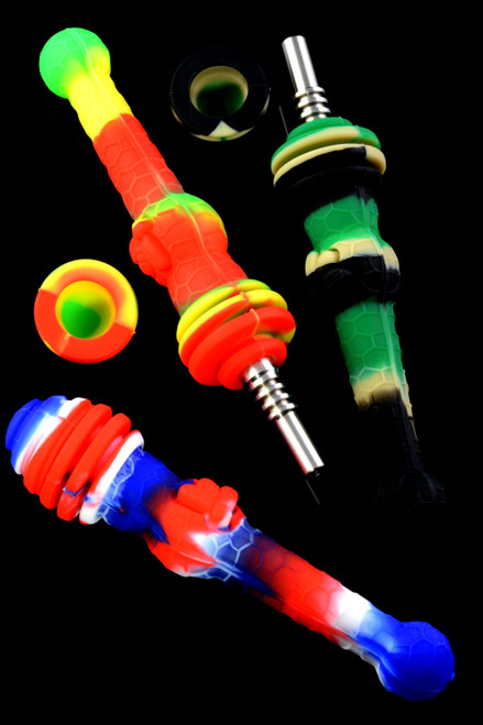 Colorful Silicone Honeybee Nectar Straw - P2161