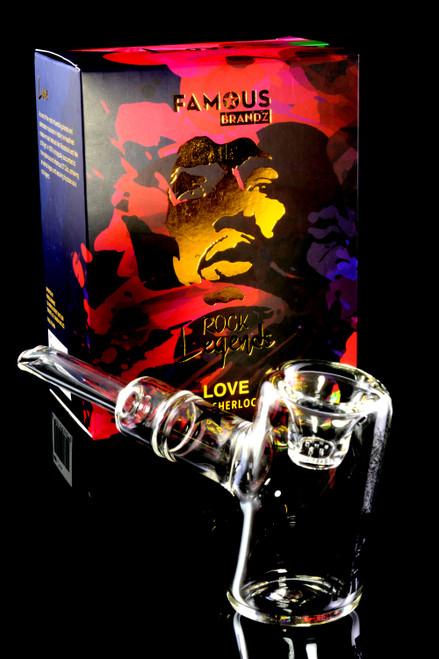 """Rock Legends Jimi """"Love"""" Hammer Sherlock Glass Pipe - P2172"""