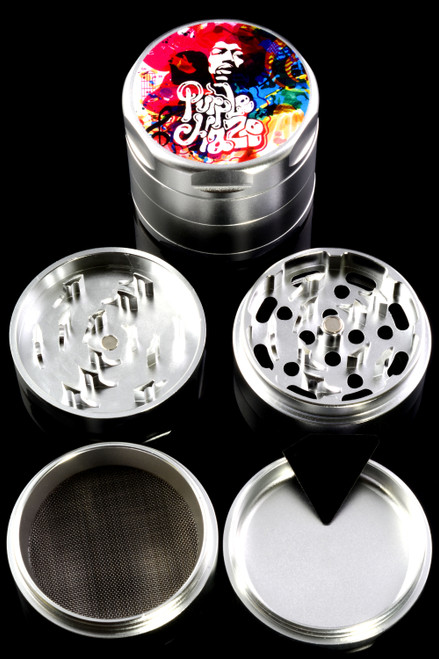 "Rock Legends Jimi ""Rainbow Haze"" 55mm 4 Part Aluminum Grinder - G0356"
