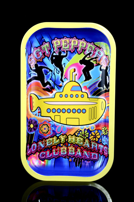 "Rock Legends Fab 4 ""Yellow Submarine"" Medium Vertical Metal Rolling Tray - RP269"