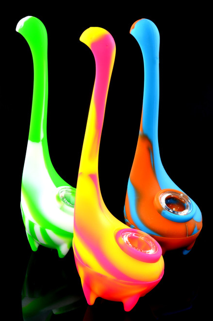 Colorful Silicone Loch Ness Monster Bubbler - AP271