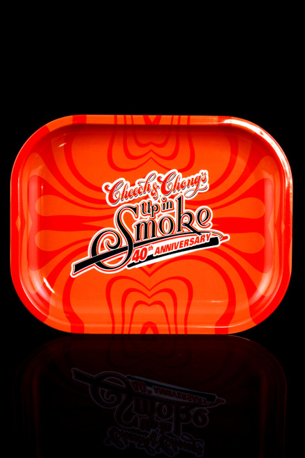 """Cheech & Chong's """"Up in Smoke"""" 40th Anniversary Small Metal Rolling Tray - RP276"""