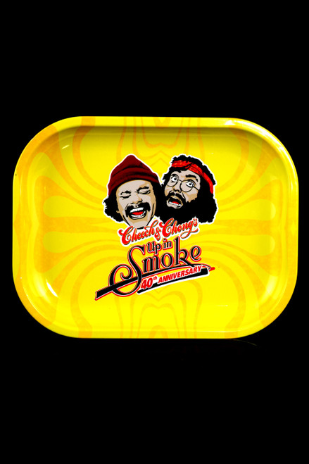 "Cheech & Chong's ""Up in Smoke"" 40th Anniversary Small Metal Rolling Tray - RP288"