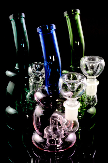 Small Stemless Colored GoG Water Pipe with Showerhead Perc - WP2141