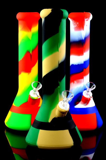 Colorful 2 Part Silicone Beaker Water Pipe - WP2176