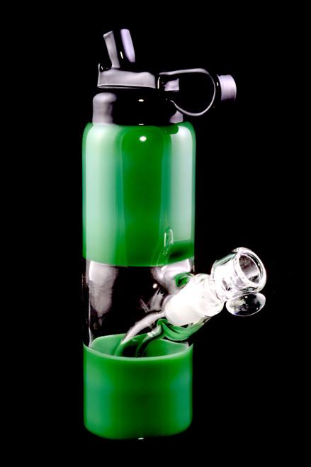Wholesale dark green bottle rig from Empire Glassworks.