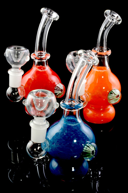 Mini Stemless GoG Frit Water Pipe - WP2191