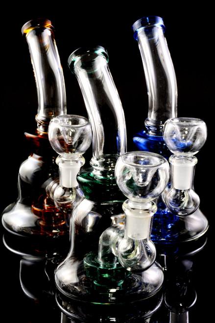 Small cheap glass wholesale bongs for smoke shop resale.