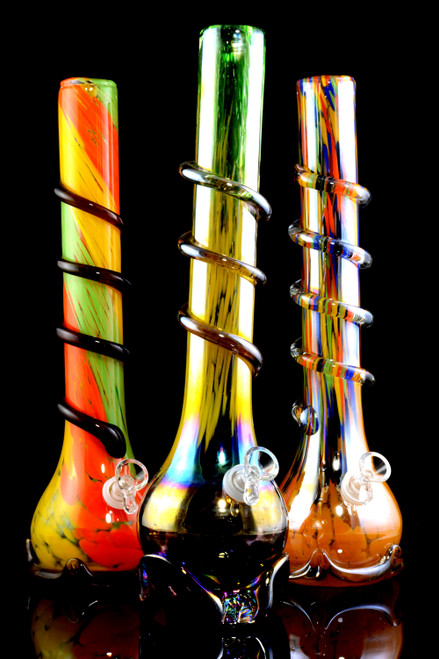 Extra Thick Large Glass on Glass Soft Glass Water Pipe - WP2203