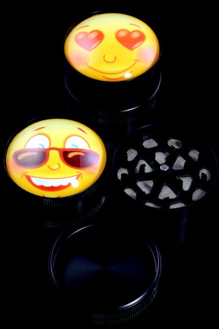 52mm 3 Part Emoji Zinc Alloy Grinder - G0377