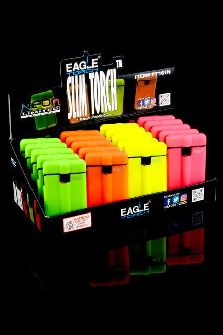 20 Pc Eagle Torch Neon Slim Torch Lighter Display - L0231