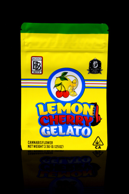 """50ct 1/8oz Size """"Cherry Gelato"""" Mylar Bags - J0225"""
