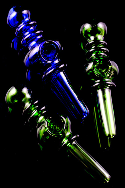 Colored Glass Steam Roller Pipe - P2256