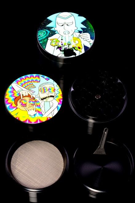 63mm 4 Part Black Aluminum R&M Decal Grinder - G0393