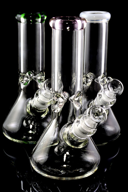 Small Thick 9mm Colored GoG Beaker Water Pipe - WP2289