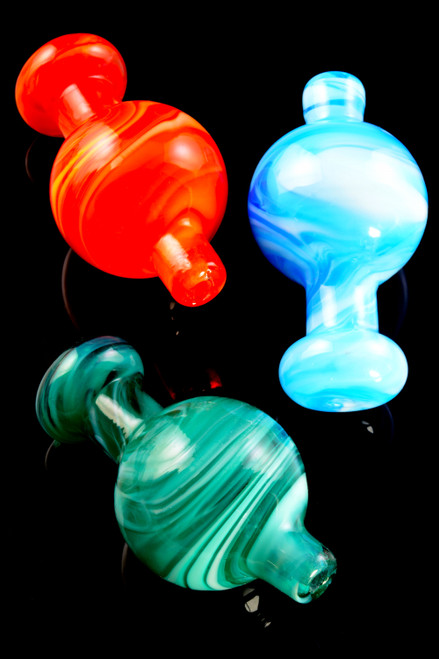 Colorful Glass Carb Cap - BS689