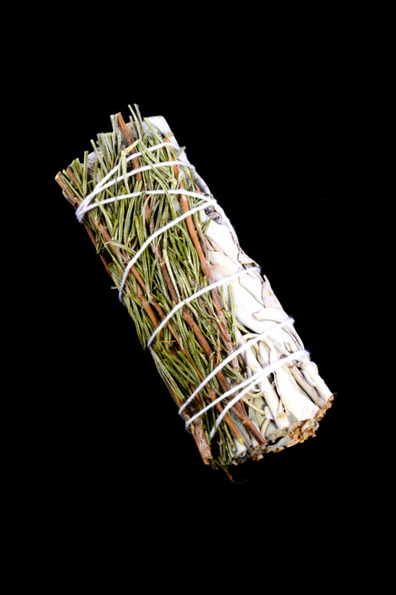 Small California White Sage Smudge Incense with Rosemary - M0338