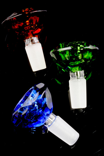 14.5mm Male Colored Glass on Glass Bowl - BS690