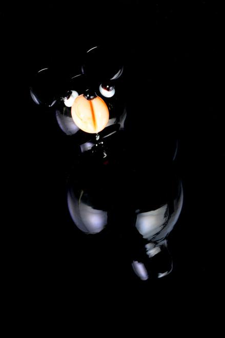 Glass Black Bear Bubble Carb Cap - BS695
