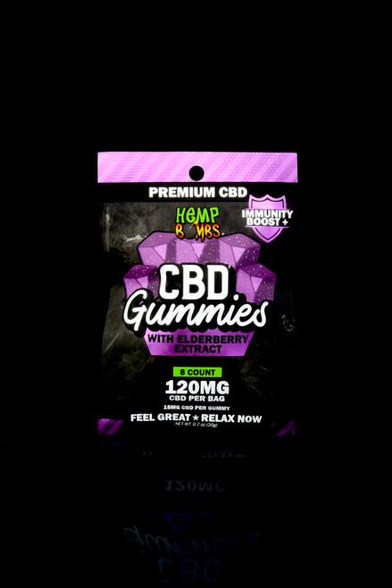 8 Count Elderberry Extract CBD Gummies - CBD270