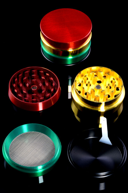 52mm 4 Part Aluminum Rasta Grinder - G0398