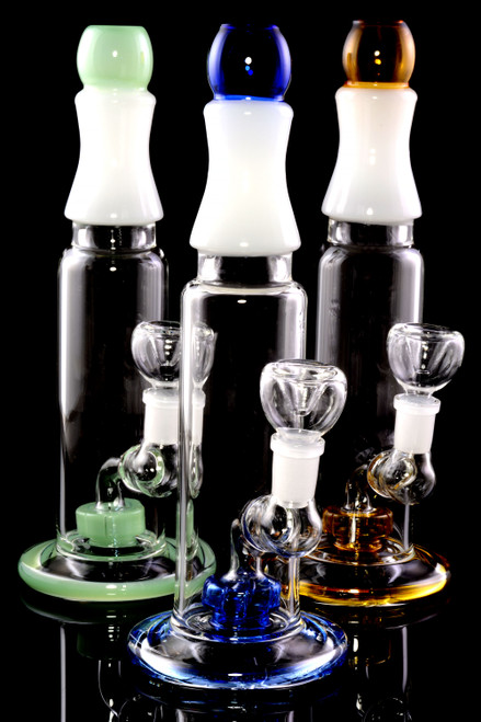 Medium GoG Stemless Straight Shooter Water Pipe with Showerhead Percs - WP2342