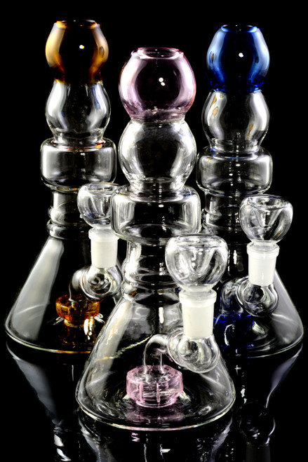Small GoG Stemless Beaker Water Pipe with Showerhead Perc - WP2345