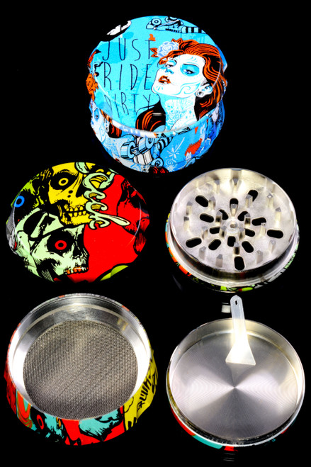 63mm Colorful 4 Part Aluminum Decal Grinder - G0401