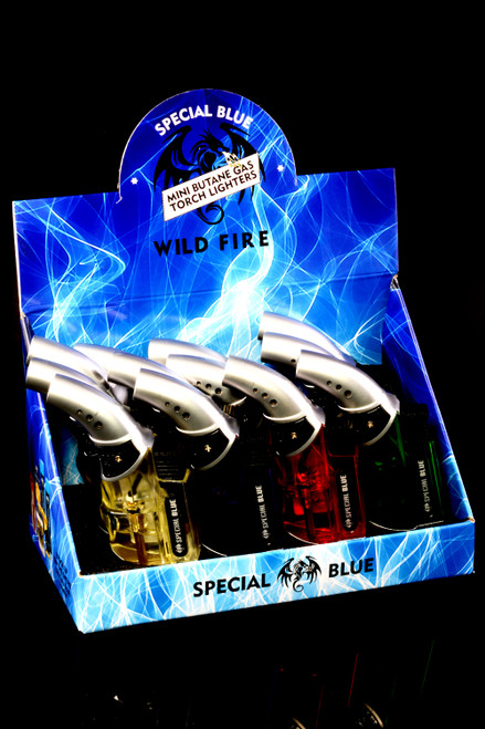 12 Pc Special Blue Wild Fire Torch Lighter Display - L0245