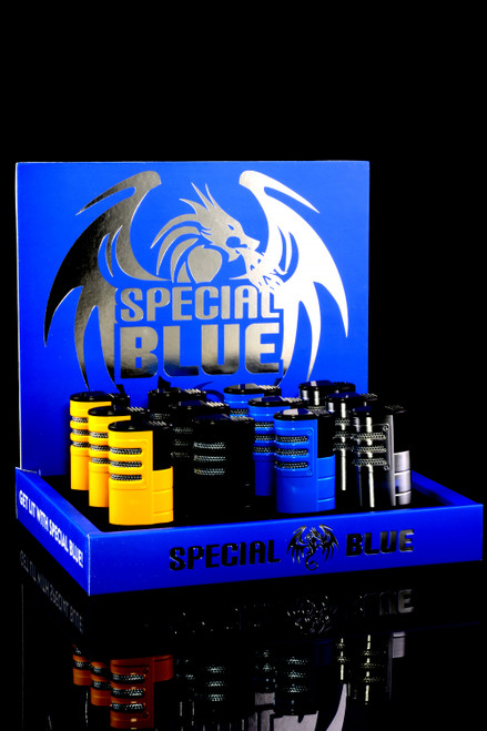 12 Pc Special Blue Triple Shot Torch Lighter Display - L0247