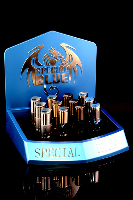12 Pc Special Blue Executive Torch Lighter Display - L0249