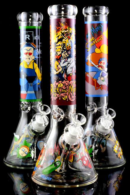 Bulk wholesale thick glass water bongs for resale.