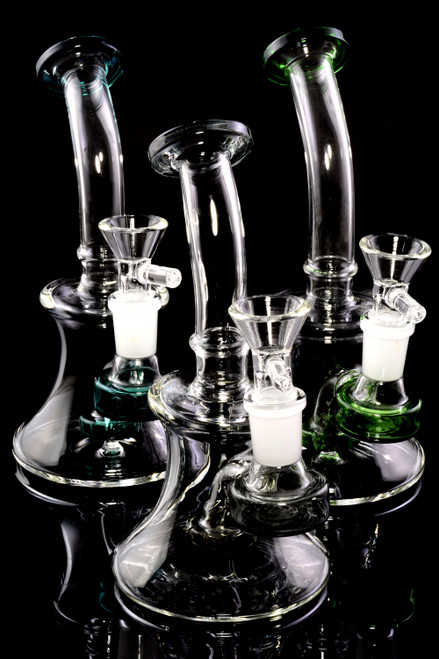 Small Stemless GoG Bent Neck Water Pipe with Showerhead Perc - WP2362