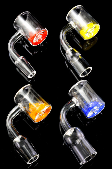 28mm Thermochromic Domeless Quartz Banger Nail - BS700