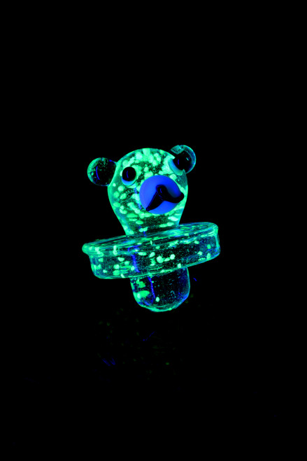 Glass Glow in the Dark Frit Bear Carb Cap - BS712