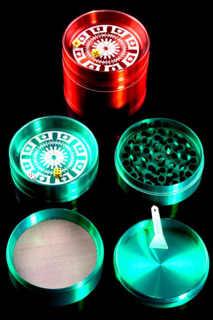 63mm Colored 4 Part Roulette Aluminum Grinder - G0404