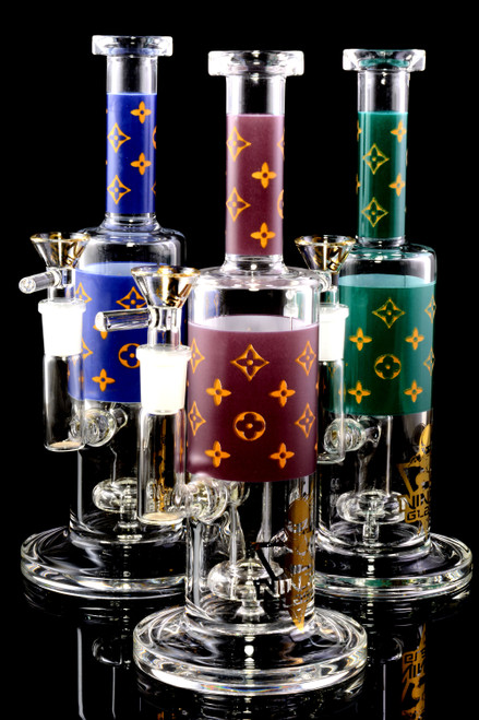 Small Stemless GoG Straight Shooter Floral Design Water Pipe with Showerhead Perc - WP2387