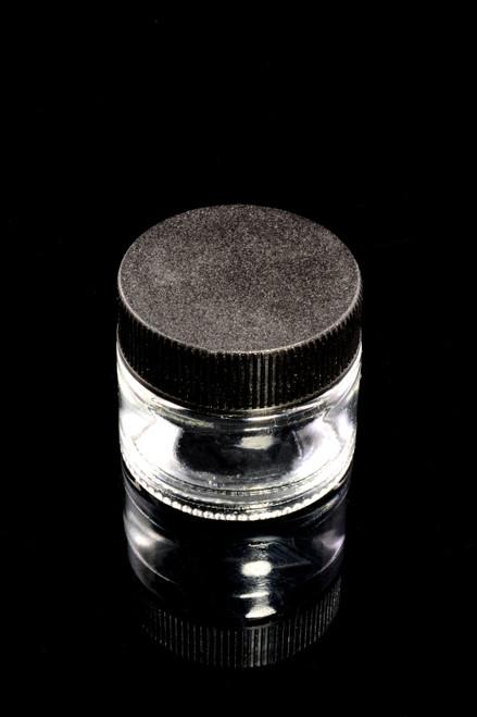 5ml Glass Wax Jar with Black Lid - J0230
