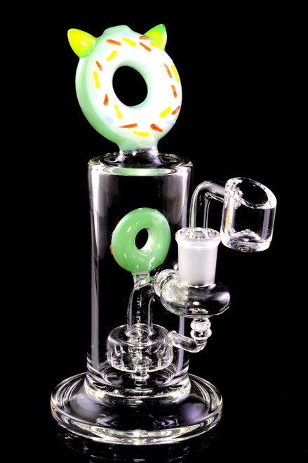 Wholesale unique kitty donut dab rig water pipe for resale.