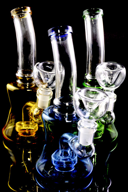 Wholesale colored glass water pipes with showerhead perc.
