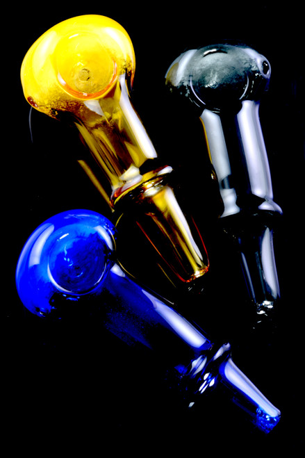 Bulk colored glass hand pipes for resale.