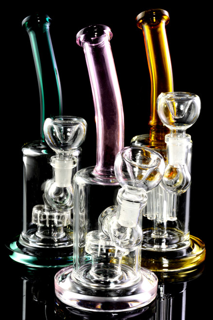Glass on glass wholesale bongs with percolator.