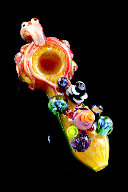 Wholesale top shelf ocean themed glass pipes handblown by Empire Glassworks.
