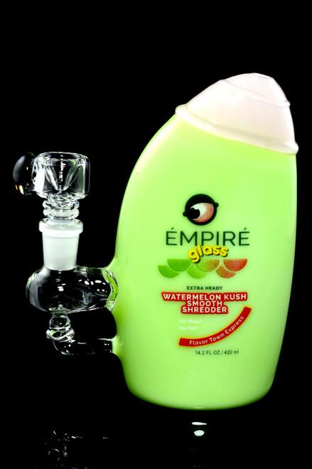 Bulk Empire Glassworks shampoo bottle water pipes for resale.