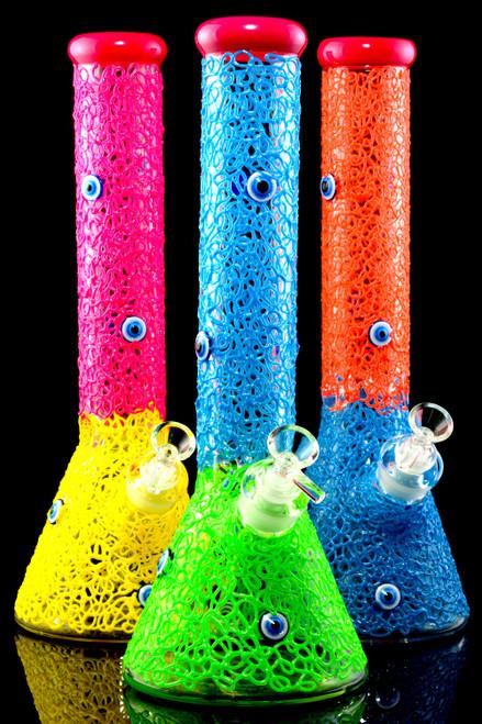 Bulk thick glass beaker bongs for head shop resale.