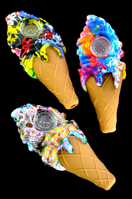Wholesale silicone ice cream cone pipes for resale.