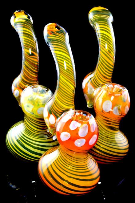 Wholesale sherlock gold fumed bubblers for smoke shop resale.