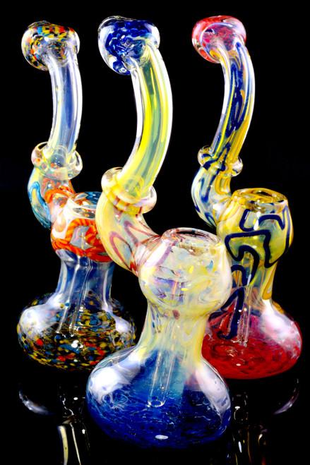 Wholesale color changing bubbler bongs for head shop resale.
