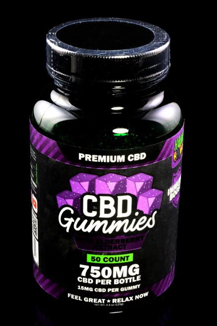 50 Count Elderberry Extract CBD Gummies - CBD278